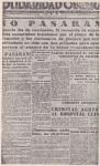 """Solidaridad Obrera"" del 22 de julio de 1936."